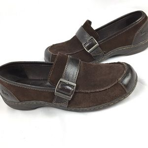 Born concept BOC leather mules loafers size 9